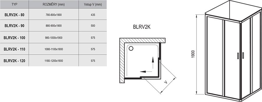 Blix BLRV2K+BLRV2K Shower Enclosure