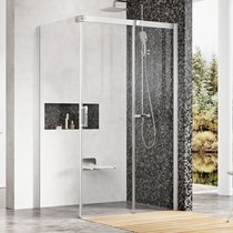 Shower door with a fixed wall MSDPS