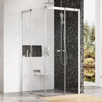 Four-part corner shower enclosure MSRV4