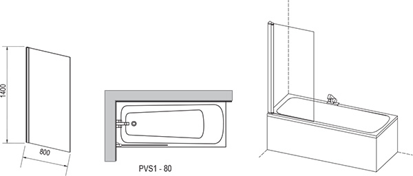 Bathtub Screen PVS1