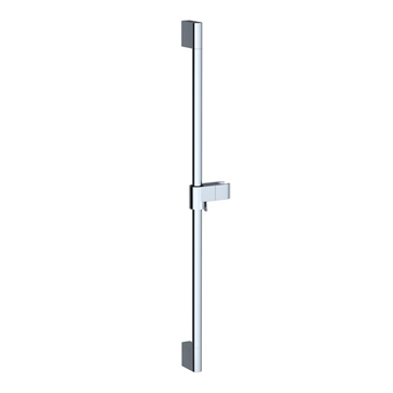 Chrome bar with a sliding shower holder