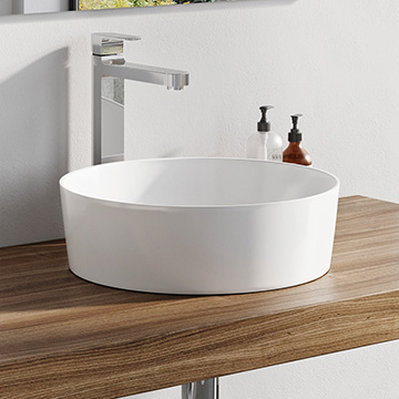Uni and Uni Slim ceramic washbasins
